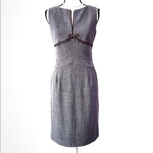 Kay Unger Sheath Dress Wool Fully Lined